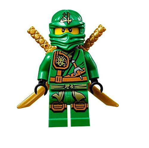 LEGO Ninjago Minifigure - Lloyd Zukin Robe Jungle Green Ninja with Dual Gold Swords (70749)