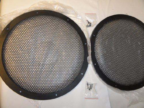 Pair 12 Inch Classic Beehive High Excursion Subwoofer Speaker Grills (15 Subwoofer Grill compare prices)