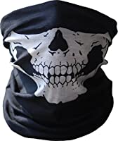 Motorcycle Face Mask Xpassion Skull Mask Half Face for Out Riding Motorcycle Black by Xpassion