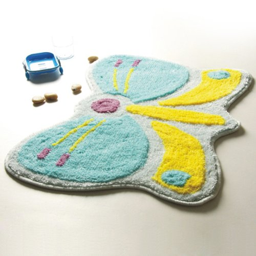 Naomi - [Butterfly] Kids Room Rugs (18.5 by 24.8 inches)