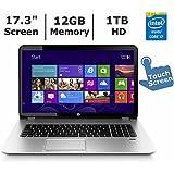 HP ENVY TouchSmart 17-j140us Notebook PC - Intel Core i7-4710MQ 2.5GHz 12GB 1TB DVDRW Windows 8.1 (Certified Refurbished)