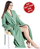 Pure Cashmere Robe for Women (Blue Topaz, Large/Extra Large)