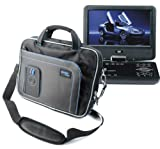 DURAGADGET Water Resistant Two Tone BLK+BLUE Portable DVD Carry-Case With Extra Storage Pockets For Sony DVP-FX730, Sony DVP- FX820, Sony DVP- FX875, Sony DVP- FX980, Sony DVP- FX720