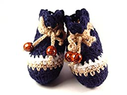 Crochet Baby Booties Baby Socks in Eco Box, Size: 0-6 M
