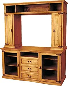 Hidalgo Rustic Pine Flat Screen Entertainment Center