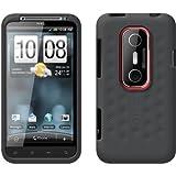 HTC純正 au EVO 3D ISW12HT 専用 Silicone Smerge Case, Graphite Gray シリコン製 スキンケース, グラファイト・グレー 70H00425-03M