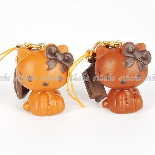 Hello Kitty Couple Mobile Cell Phone Strap 2pcs