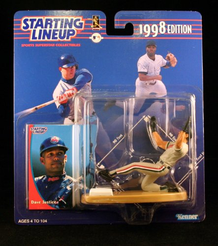 DAVID JUSTICE / CLEVELAND INDIANS 1998 MLB Starting Lineup Action Figure & Exclusive Collector Trading Card
