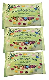 Trader Joe\'s Gourmet Jelly Beans 18 Natural Color & Flavors 3 Bags - 15 oz each