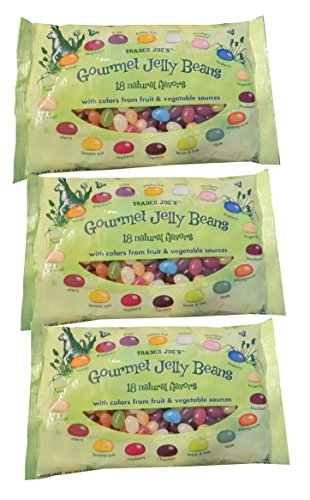 Trader Joe's Gourmet Jelly Beans 18 Natural Color & Flavors 3 Bags - 15 oz each (Different Flavored Jelly Beans compare prices)