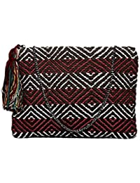 Diwaah Beautifully Handcrafted Casual Cotton Multi Color Rug Zip Top With Zip (DWH000000831)