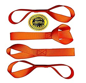 Soft Loops Tie-Down Straps (4-Pack) --> 1,200 lb. Working Load Capacity --> Factory Tested at 2,272 lb. Break Strength (<<< See Testing Photos in Sidebar) Safety Neon Orange Color - Protects Your ATV, Snowmobile, UTV, Motorcycle and Lawn/Garden Equipment from Scratches When Using Tie-Downs. Straps proven to have TWICE the 7200 lb workload capacity of our competitor!