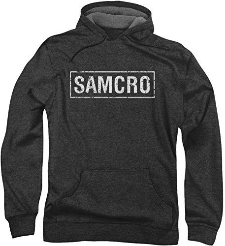 Sons Of Anarchy, Samcro-Felpa con cappuccio da uomo grigio Large