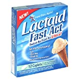Lactaid Fast Act Twice As Ultra, 12 Caplets