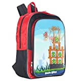 Angry Birds 16 inch Backpack - Red and Black