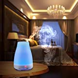VicTsing® 100ml Aromatherapy Essential Oil Diffuser Portable Ultrasonic Cool Mist Aroma Humidifier with Color LED Lights Changing and Waterless Auto Shut-off Function for Home Office Bedroom Room