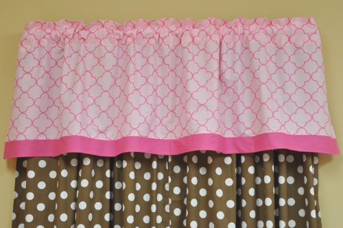 Butterflies pink/chocolate Valance