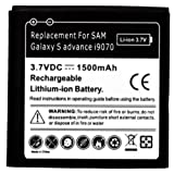 2 x Samsung Galaxy S Advance i9070 Replacement Battery - 1500 mah