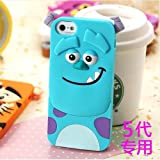 Lovestal Cute Cartoon 3D Disney Monster University Animals Soft Silicone Back Cases Covers for Apple iPhone 5 5G 5S (Blue Monster)
