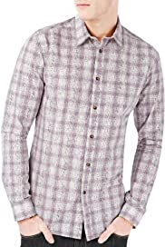 Autograph Luxury Pure Cotton Checked Shirt [T25-3373T-S]