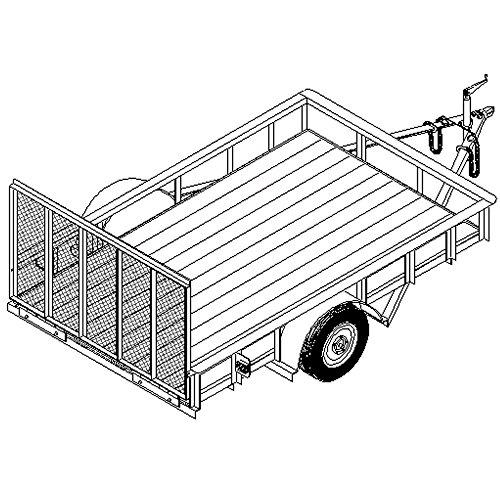 Utility Trailer Plans Blueprints (10' x 6'4