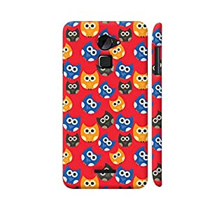 Colorpur Cute Owls On Red Designer Mobile Phone Case Back Cover For Coolpad Note 3 Lite   Artist: Designer Chennai