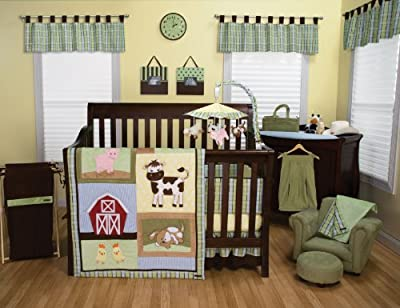 Baby Barnyard 4 Piece Crib Bedding Set by Trend Lab
