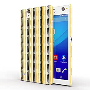 Koveru Designer Printed Protective Snap-On Durable Plastic Back Shell Case Cover for SONY XPERIA C4 - Wooden Pattern
