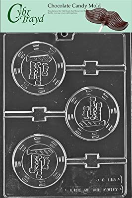 Cybrtrayd D115 Happy Father's Day Lolly Chocolate Candy Mold with Exclusive Cybrtrayd Copyrighted Chocolate Molding Instructions