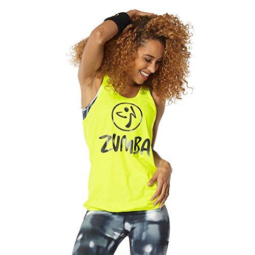 """Zumba Fitness Hot In Here """", motivo: Caution-Canottiera da donna, taglia: L (taglia del produttore: L)"""