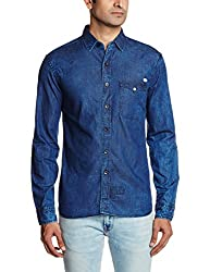 Breakbounce Men's Dress Shirt (8907066071529_Hover_Large_Indigo)