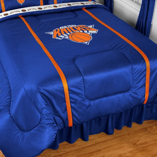 Nba New York Knicks Queen Comforter Sidelines Basketball Bed front-631854
