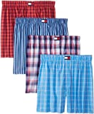 Tommy Hilfiger Men's Four-Pack Blues and Reds Boxers
