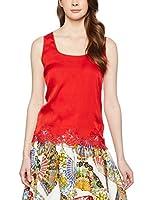 ZZ_Dolce & Gabbana Top Seda (Rojo)