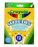Toy - Crayola 03.7509DM - 12 Supertips Filzstifte einfach auswaschbar