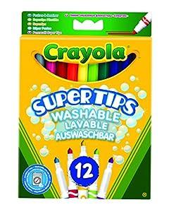 Crayola - Loisir Créatif - 12 Feutres À Dessiner Lavables Couleurs Vives