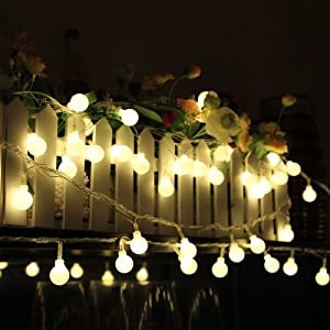 Innoo Tech 230V 33 ft/100 LED Ball Linkable String Lights with 8 function modes for Christmas, party, wedding and other celebrations.