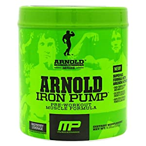 Muscle Pharm Arnold Schwarzenegger Series Iron Pump, Raspberry Lemonade, 30 servings