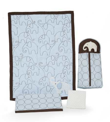 Carter's 4-Piece Crib Bedding Set, Blue Elephant