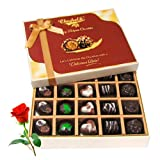 Creative Collection Of Dark And Milk Chocolate Box With Red Rose - Chocholik Belgium Chocolates