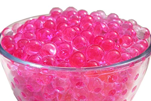 Water Beads Gel Great for Wedding decor, Home decor, Vase fillers, orbeez refill, Kids Tactile Sensory Experience,100PCS per Bag, 50Bags (Hot Pink )