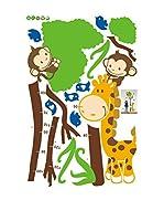 Ambiance-sticker Vinilo Decorativo Tree And Monkey (Kidmeter)