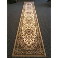 Traditional Area Rug Runner 32 In. X 15 Ft. 10 In. Light Beige Bellagio 401