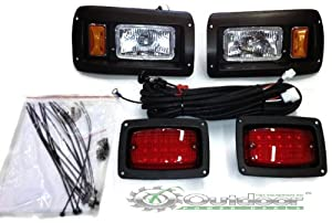 Club Car DS Golf Cart Headlight and LED Tail Light Kit - 1993 & Up