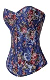 Alivila.Y Fashion Corset Womens Vintage Floral Denim Corset Bustier