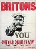 WAR PROPAGANDA FIRST WORLD ICON KITCHENERENLIST UK VINTAGE POSTER PRINT 12x16 inch 30x40cm 1095PY
