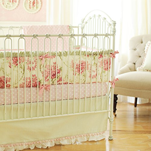 New Arrivals 2 Piece Crib Set, Roses for Bella