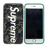 Supreme TPU シュプリーム TPU iPhone7 おしゃれ携帯カバー iPhone7plus ケース 英字 スマホカバー スマホケース iPhoneケース スマイルマーク FASHION クリアケース 耐衝撃 超軽量 高品質 全3色 (IPHONE7 PLUS, 迷彩)