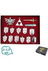 Legend of Zelda Shield Sword Blade Weapon Necklace 14 Pcs One Set