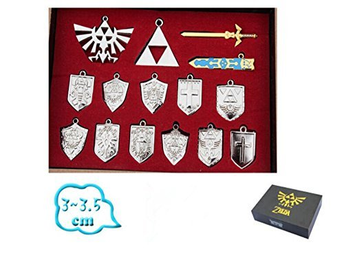 Check Out This Legend of Zelda Shield Sword Blade Weapon Necklace 14 Pcs One Set